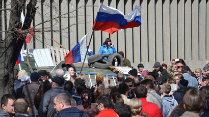 Donetsk protesters prepare for Kiev military attack, referendum