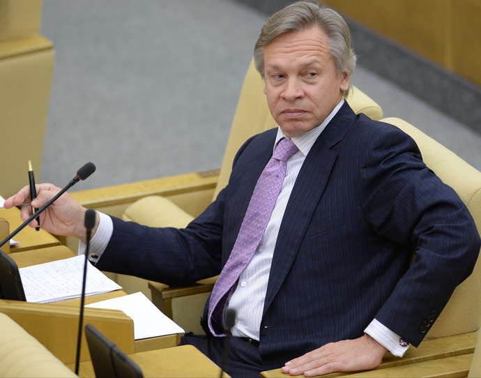 Alexey Pushkov, Chairman of the State Duma's International Affairs Committee (RIA Novosti)