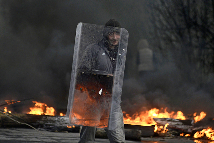 The eastern city of Slavyansk on April 13, 2014. (Reuters / Maks Levin)