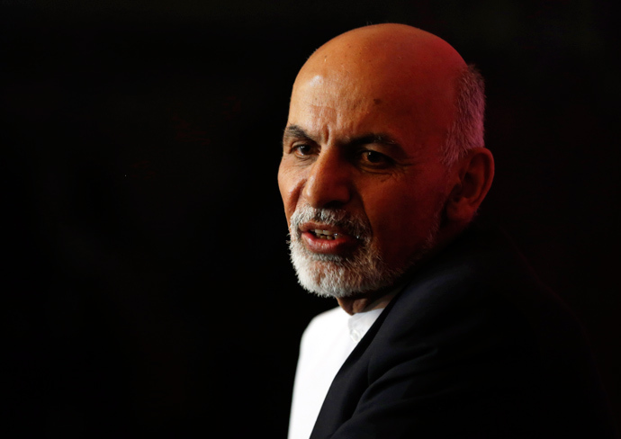 Presidential candidate Ashraf Ghani Ahmadzai speaks during a news conference in Kabul April 13, 2014 (Reuters / Omar Sobhani)