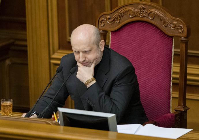 Ukraine's acting President Aleksander Turchinov (Reuters / Alex Kuzmin)
