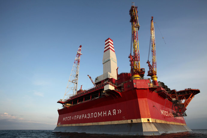 The Prirazlomnaya oil rig in the Barents Sea (RIA Novosti / Igor Podgornyi)