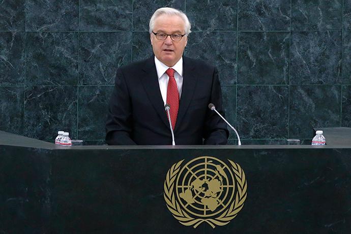 Russia's UN Ambassador Vitaly Churkin (Reuters / Lucas Jackson)