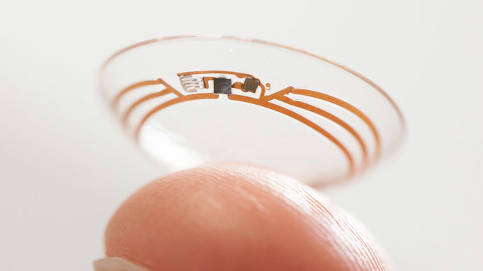 Google developing contact lens with camera, sensors