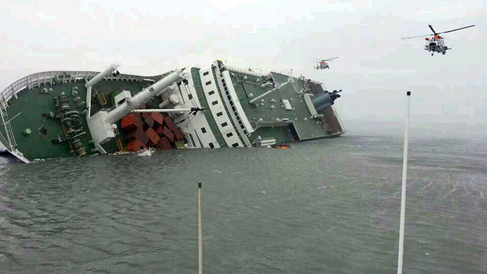Ferry sinking off South Korean coast, almost 300 missing