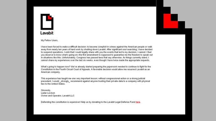 Snowden's email provider Lavabit loses federal appeal