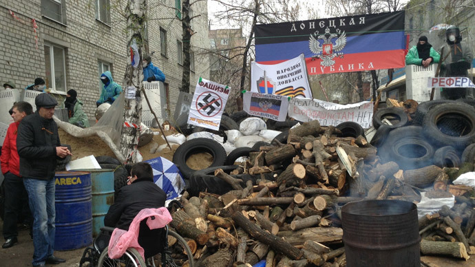 Anti-govt activists take control of TV tower in Donetsk region
