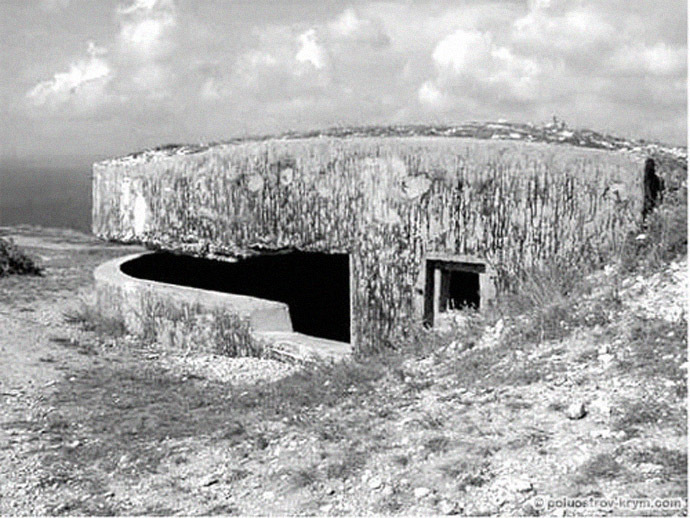Soviet coastal battery #18. Cape of Fiolent neat Balaklava (From www.poluostrov-krym.com)