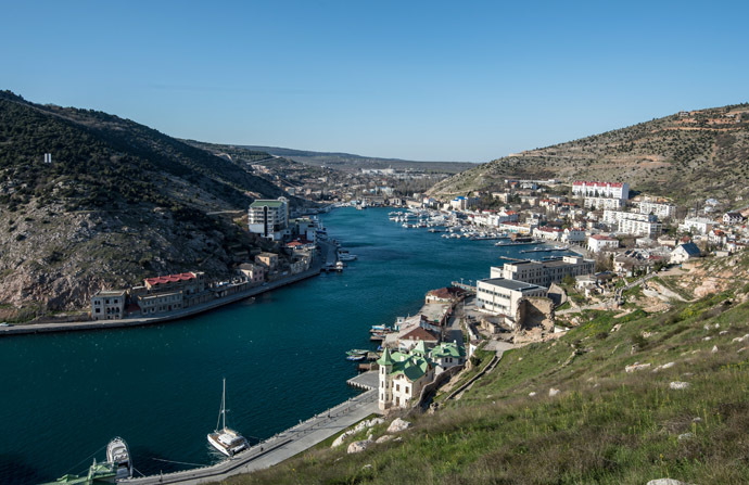 A view of the town of Balaklava and the Balaklava Bay. (RIA Novosti/Mihail Mokrushin)