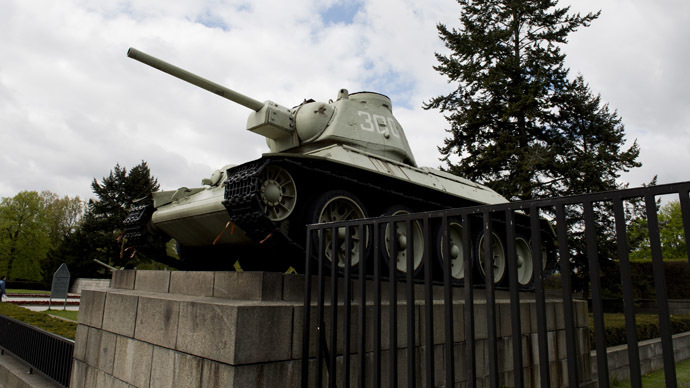 Germany critical of 'populist' call to remove tanks from Berlin Soviet WWII memorial