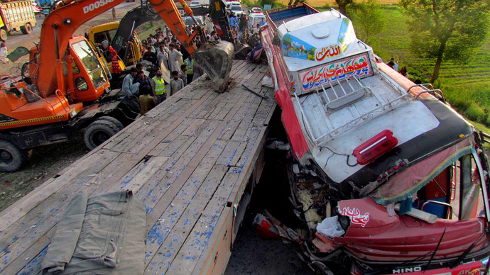 At least 42 dead in Pakistan road accident