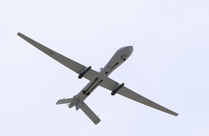 A U.S. Air Force MQ-1 Predator, unmanned aerial vehicle, armed with AGM-114 Hellfire missiles (Reuters)
