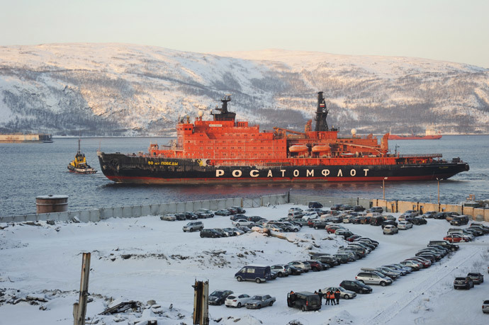 "The nuclear icebreaker ""50 Let Pobedy"" (RIA Novosti / Sergey Eshenko)"