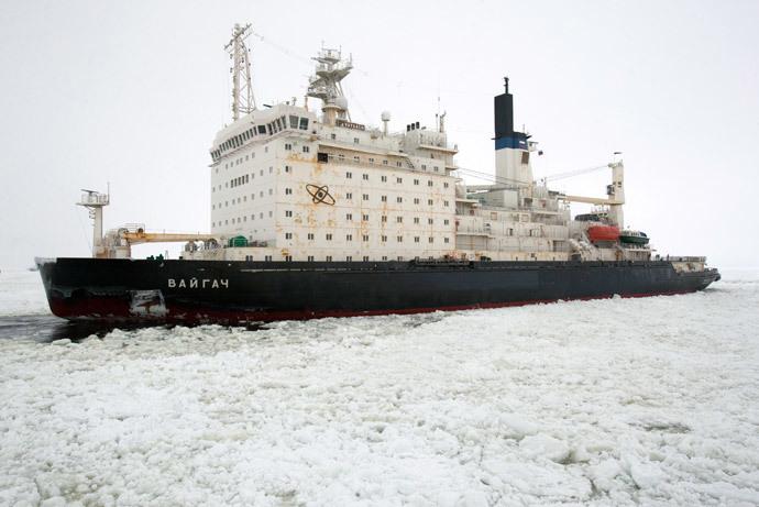 The nuclear icebreaker Vaygach (RIA Novosti / Vadim Zhernov)