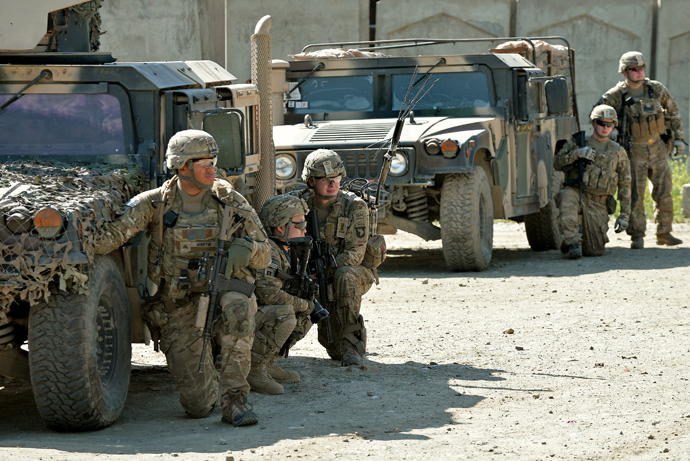 US soldiers of the Airborne Division (AFP Photo / Manjunath Kiran)