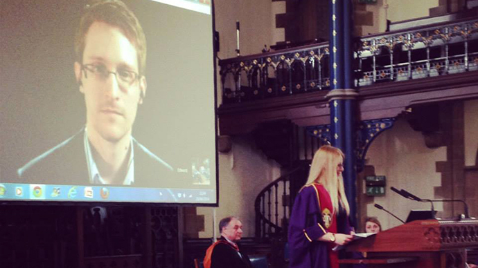 Students' choice Snowden takes up post as Glasgow University rector