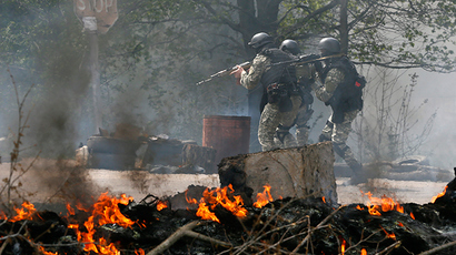 'Feed your army, motherf***ers!' Raging locals 'hijack' RT report as Ukraine troops raid Slavyansk