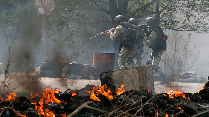 Gunmen attack self-defense forces in eastern Ukraine