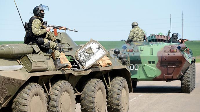 Kiev military op: Ukrainian army tanks, APCs, troops attack Slavyansk