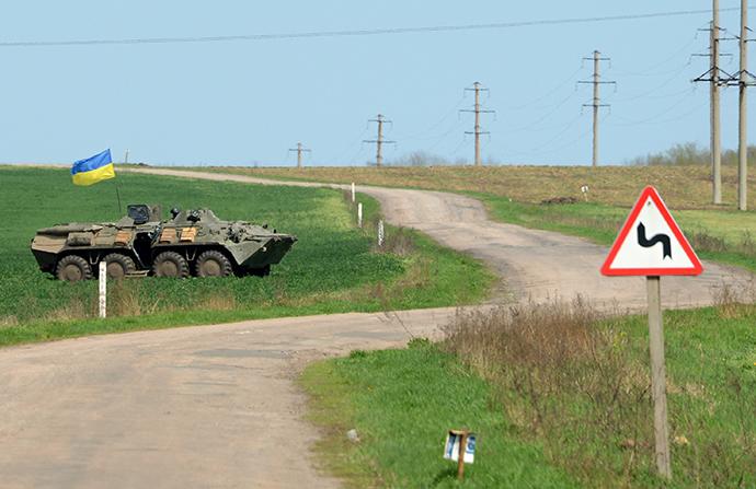 Ukrainian special forces take position in the eastern Ukrainian city of Slavyansk on April 24, 2014 (AFP Photo / Kirill Kudryavtsev)