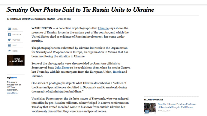 Screenshot from nytimes.com