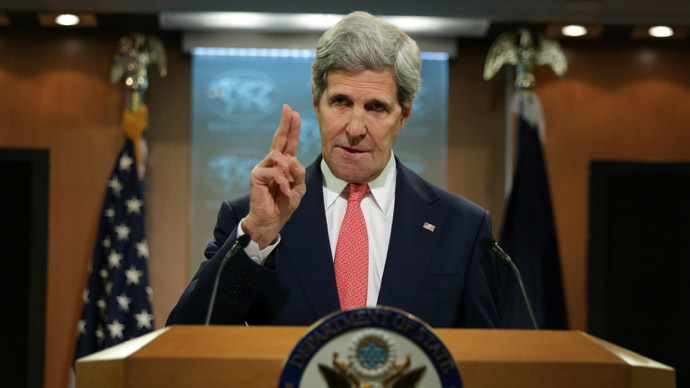 'Propaganda bullhorn': John Kerry attacks RT during Ukraine address