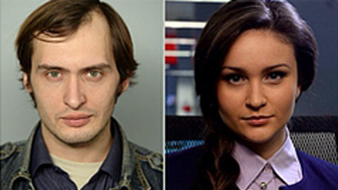 Mikhail Pudovkin and Julia Shustraya (Screenshot from lifenews.ru)