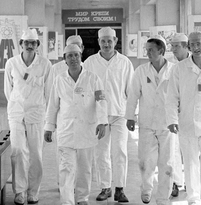 New shift starting work at the Chernobyl nuclear power plant (RIA Novosti)