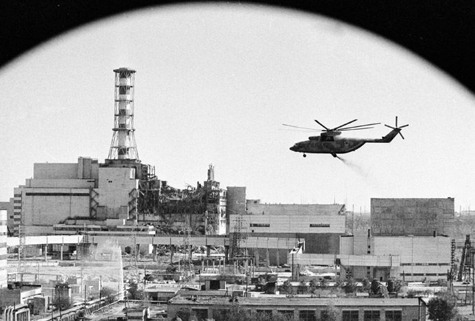 Decontamination of the Chernobyl nuclear power plant buildings. (RIA Novosti)