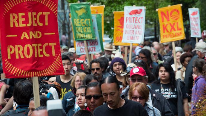 #NoKXL: Thousands march in D.C. against Keystone pipeline