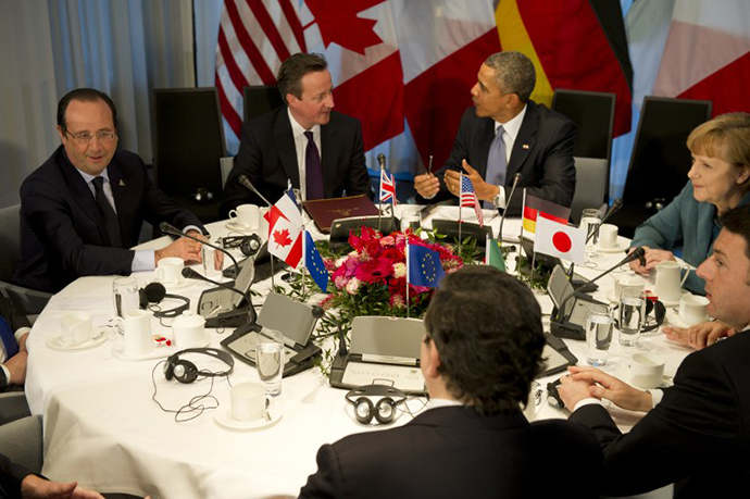 A G7 summit at the official residence of the Dutch prime minister in The Hague on March 24, 2014 on the sidelines of the Nuclear Security Summit (NSS). (AFP Photo / Alain Jocard)