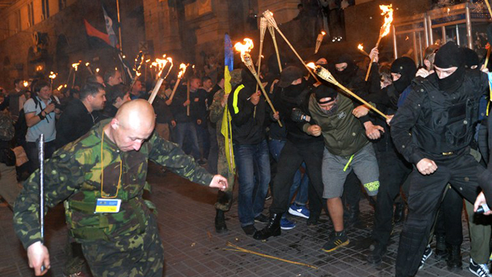 State Guard, police hold night drill in Kiev (VIDEO)