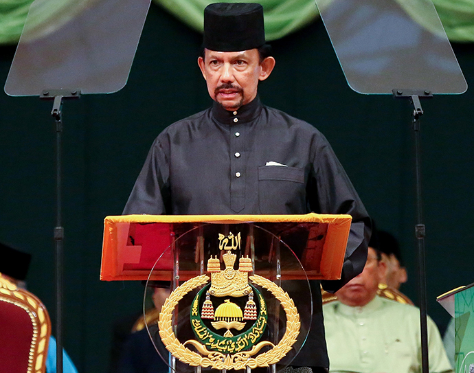 Brunei Sultan Hassanal Bolkiah (AFP Photo / Dean Kassim)