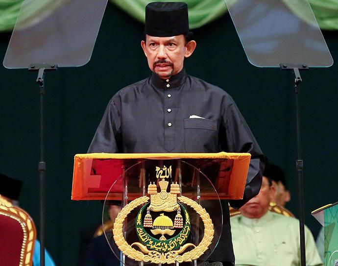 Brunei Sultan Hassanal Bolkiah (AFP Photo / Dean Kassim)