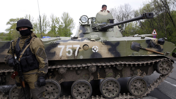 Ukrainian army 'on full alert', president admits east is beyond control