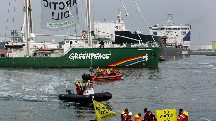 Greenpeace activists detained for blocking Gazprom oil rig in Dutch port