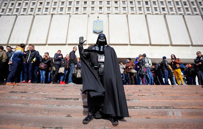 """Darth Vader"" (Reuters / Shamil Zhumatov)"