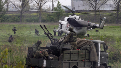 At least two Ukrainian army helicopters shot down over Slavyansk (VIDEO)