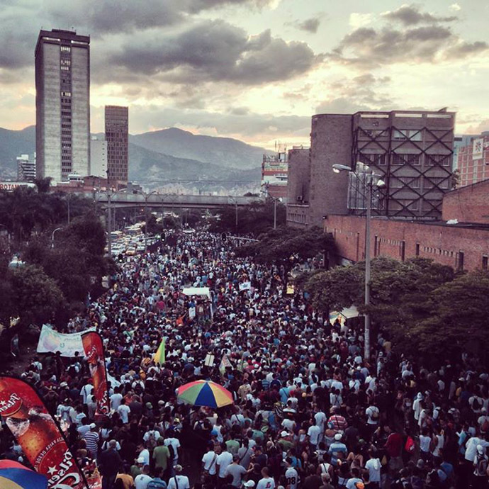 Medellin, Colombia. May 3, 2014. (Photo from facebook.com/GlobalMarihuanaMarch)