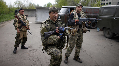 Clashes in Slavyansk as Kiev's troops maintain chokehold