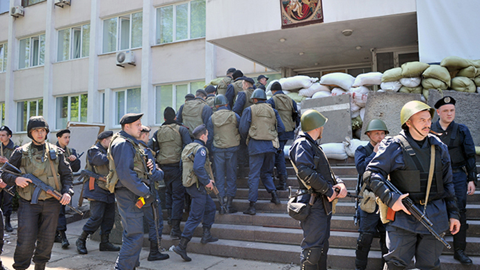Kiev retakes Mariupol city hall after overnight clashes