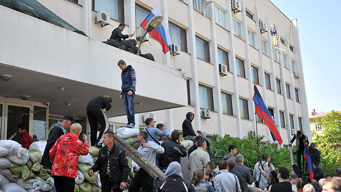 Anti-Kiev protesters regain control of city council in Mariupol
