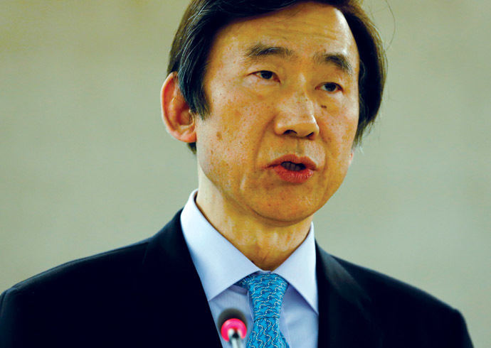 South Korea's Foreign Minister Yun Byung-se (Reuters/Denis Balibouse)