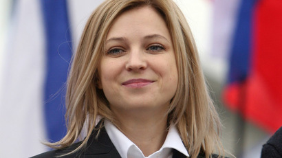 Now a brunette! Crimean prosecutor Poklonskaya parades new haircut & color