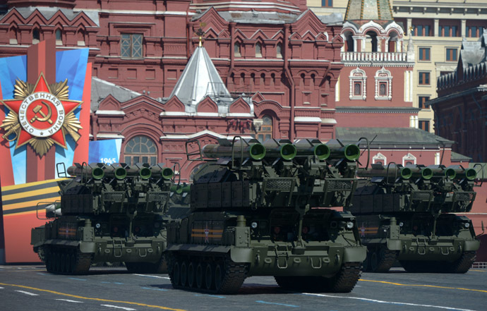 BUK-M2U surface-to-air missile systems during a parade marking the 69th anniversary of the victory in the Great Patriotic War, on Moscow's Red Square. (RIA Novosti)