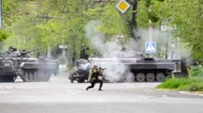 ​US blames Russia as Kiev unleashes armored vehicles against civilians