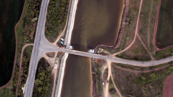 Satellite image of the North Crimean Canal