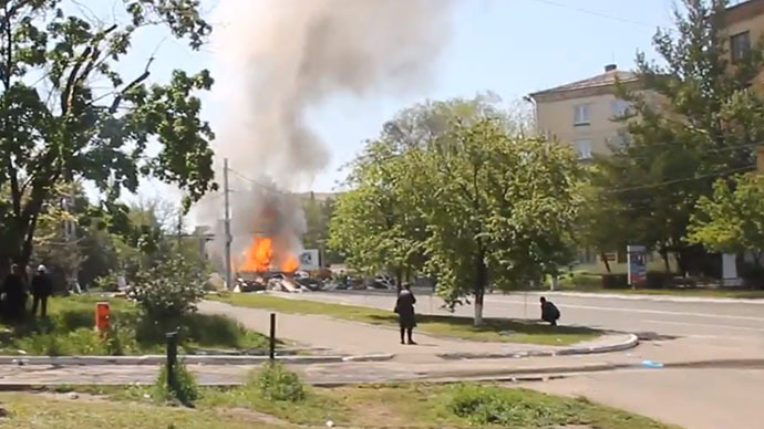 Gunshots, explosions as fighting resumes near Ukraine's Slavyansk