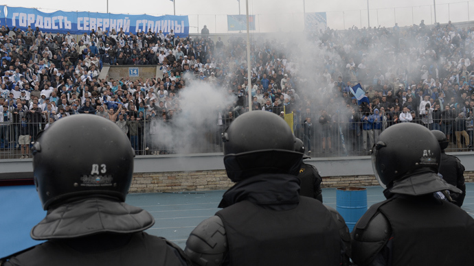 Outrage as fan punches player in Russian football unrest (PHOTOS, VIDEO)