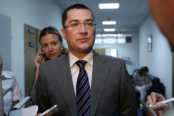 Gazprom's official representative Sergey Kupriyanov (RIA Novosti)